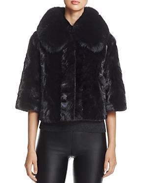 Maximilian Furs Fox Fur-collar Mink Fur Coat - 100% Exclusive