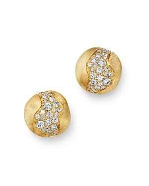 Marco Bicego 18k Yellow Gold Africa Constellation Pave Diamond Stud Earrings