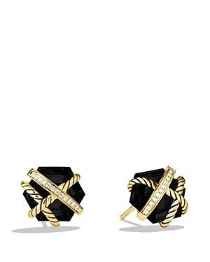David Yurman Cable Wrap Earrings With Black Onyx