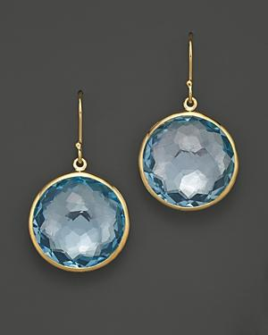 Ippolita 18k Gold Lollipop Earrings In Blue Topaz