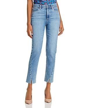 Paige Hoxton Twisted-seam Slim-leg Jeans In Florencia