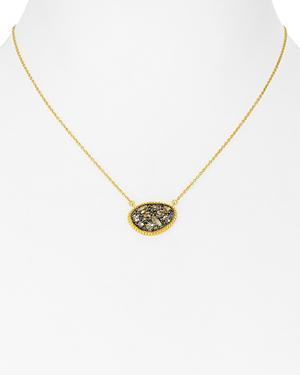 Freida Rothman Small Pave Pendant Necklace, 15