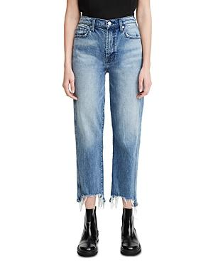 7 For All Mankind Ripped Cropped Jeans In Monterey Destructed