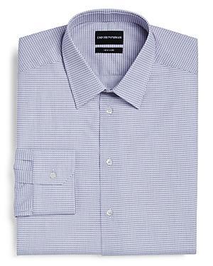 Emporio Armani Cross Hatch Regular Fit Dress Shirt