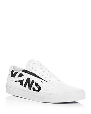 Vans Men's Old Skool Logo Canvas & Leather Lace Up Sneakers