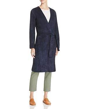 Vince Suede Robe Coat
