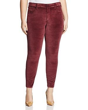 Nydj Plus Ami Velvet Skinny Legging Jeans In Deep Currant - 100% Exclusive