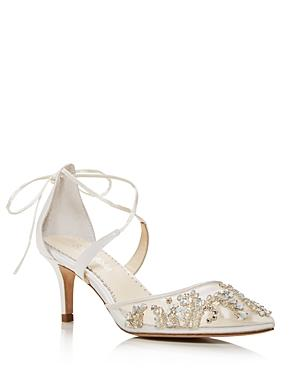 Bella Belle Women's Frances Embellished Kitten-heel Pumps