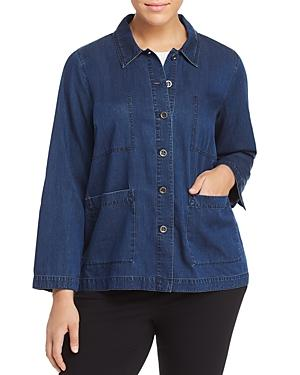 Eileen Fisher Plus Classic Chambray Jacket