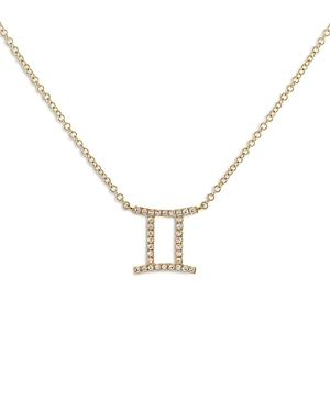 Adinas Jewels Pave Gemini Pendant Necklace, 16-18