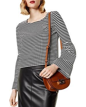 Karen Millen Bell Sleeve Striped Top