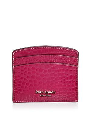 Kate Spade New York Sylvia Croc-embossed Card Case