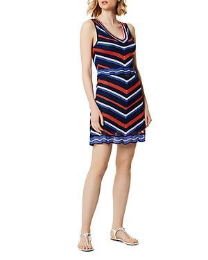 Karen Millen Chevron Pointelle Dress