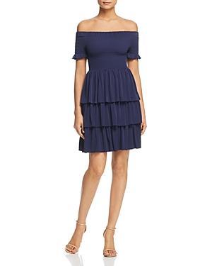 Michael Michael Kors Off-the-shoulder Tiered Dress