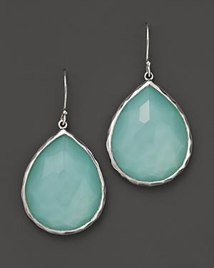 Ippolita Sterling Silver Wonderland Teardrop Earrings In Aqua Doublet