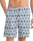 Hanro Tile-print Drawstring Shorts