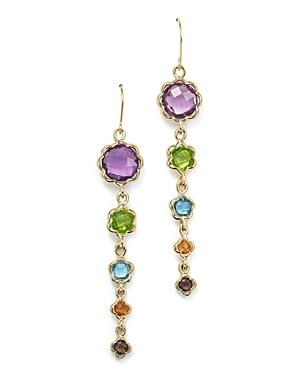 Gemstone Drop Earrings In 14k Yellow Gold