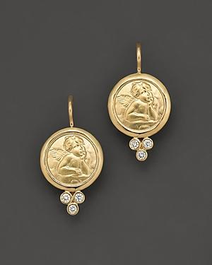 Temple St. Clair 18k Yellow Gold Angel Earrings With Diamonds