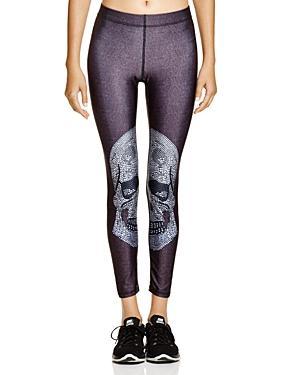 Zara Terez Crystal Skull Leggings