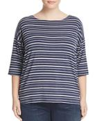 Eileen Fisher Plus Stripe Box Top