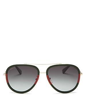 Gucci Aviator Gradient Sunglasses, 57mm