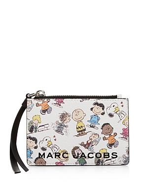 Marc Jacobs The Box Peanuts Leather Top Zip Wallet
