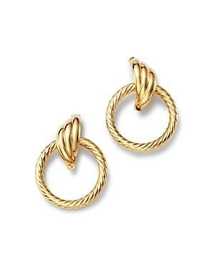 Bloomingdale's Circle Swirl Earrings In 14k Yellow Gold - 100% Exclusive