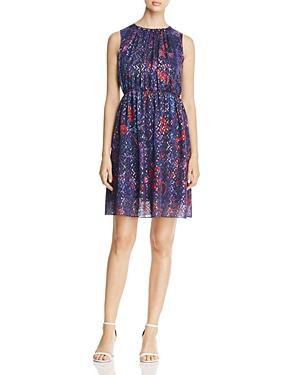 Elie Tahari Demetria Abstract Print Pleat Dress
