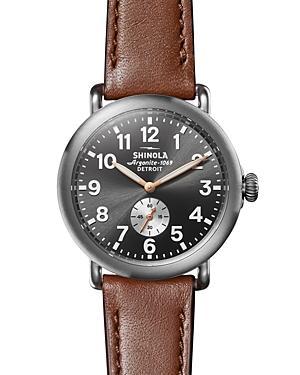 Shinola Runwell Brown Leather Strap Watch, 41mm