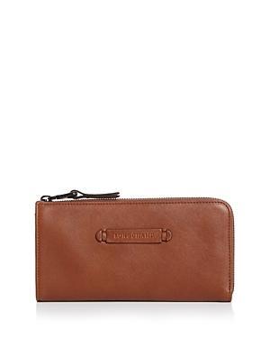 Longchamp 3-d Leather Zip Wallet