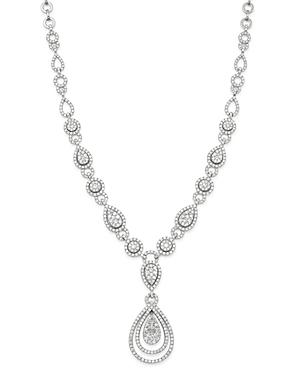 Bloomingdale's Cluster Diamond Statement Necklace In 14k White Gold, 10.30 Ct. T.w. - 100% Exclusive