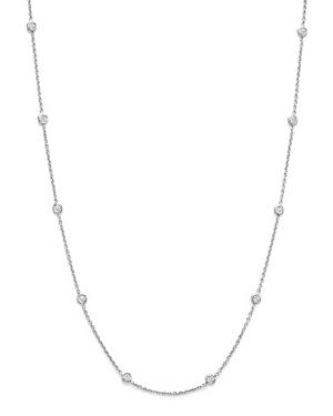Roberto Coin 18k White Gold Diamond Station Necklace, 16