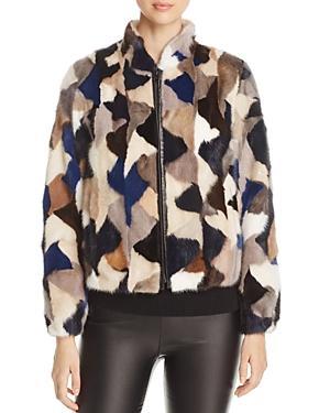 Maximilian Furs Multicolor Mink Fur Jacket - 100% Exclusive