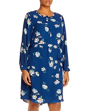 Daniel Rainn Plus Floral Print Belted Dress