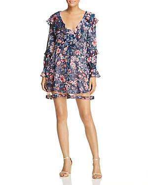 For Love & Lemons Floral Drawstring Dress