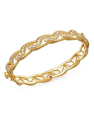 Roberto Coin 18k Yellow Gold Byzantine Barocco Diamond Bangle Bracelet