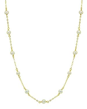 Aqua Cultured Freshwater Pearl Station Necklace, 15.5-17.5 - 100% Exclusive
