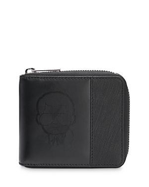 Karl Lagerfeld Paris Zip Around Combo Leather Wallet