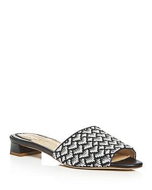 Jerome C. Rousseau Delair Beaded Low Heel Slide Sandals