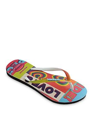 Havaianas Women's Slim Pride Rainbow Rubber Flip Flops