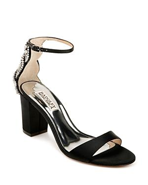 Badgley Mischka Women's Zabella Crystal Back High Heel Sandals
