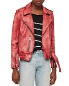 Allsaints Balfern Tie-dye Leather Biker Jacket
