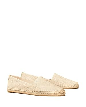 Tory Burch Women's T Monogram Embossed Leather Espadrille Loafers