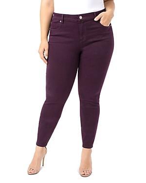 Liverpool Plus Abby Skinny Jeans In Rich Velvet