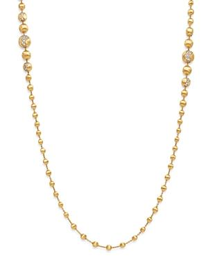 Marco Bicego 18k Yellow Gold Africa Constellation Diamond Long Beaded Necklace, 36