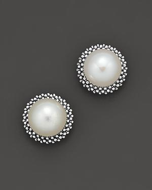 Lagos Sterling Silver Luna Pearl Stud Earrings