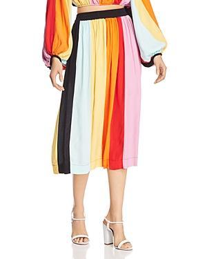 S/w/f Striped Midi Skirt