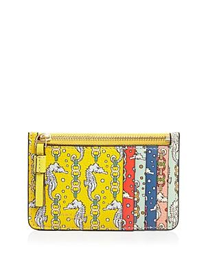 Tory Burch Perry Mini Printed Zip-top Leather Card Case