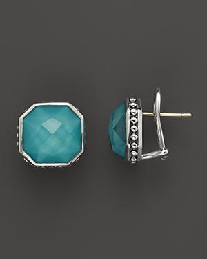 Lagos Turquoise Doublet Earrings