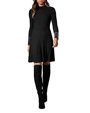 Karen Millen Embellished-cuff Sweater Dress